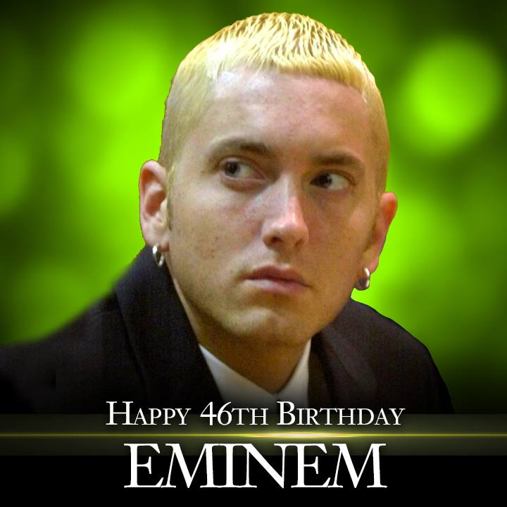Happy 46th Birthday to Eminem! #celebrate #party #rapper #music