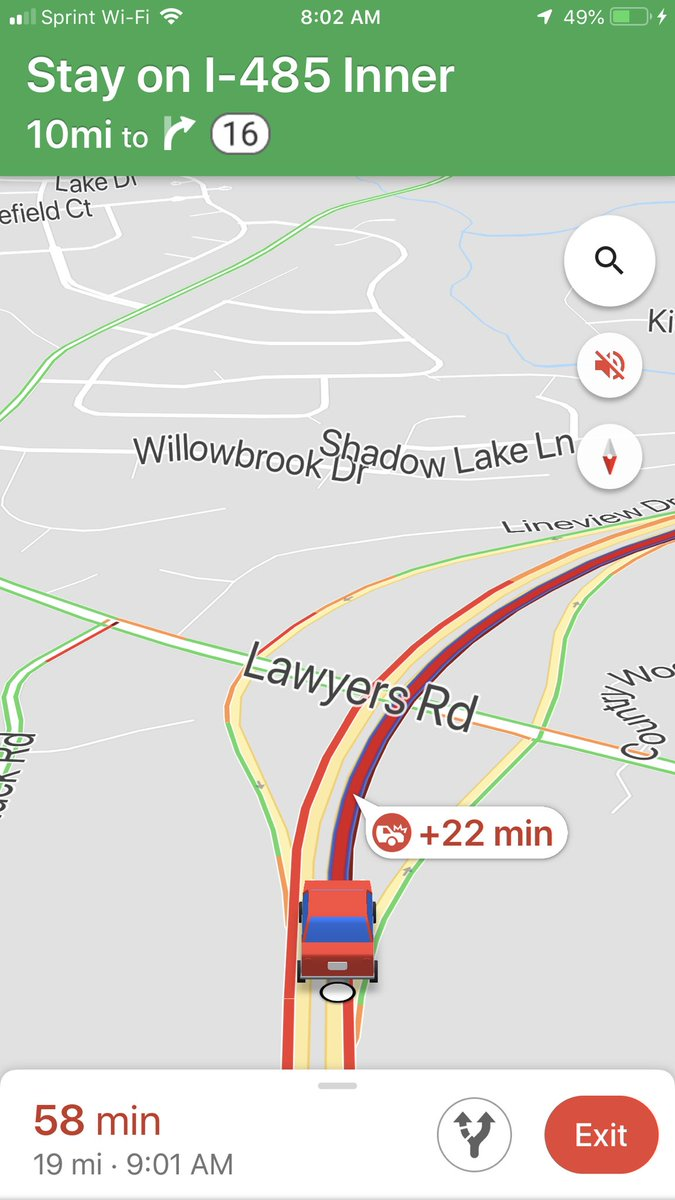 Wreck after wreck. I don't understand how so many people fail to pay attention to the dang road. #clttraffic #SpectatorTrafficIsTheWorst <br>http://pic.twitter.com/yfXcHJGFyh