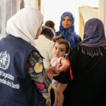 Three WHO-supported mobile medical teams have visited 12 villages in northern rural Homs in #Syria. The teams conducted 1556 consultations, provided 1547 medical treatments and screened 603 children for #malnutrition.  #HealthForAll