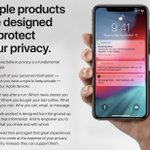 Image for the Tweet beginning: Apple's Privacy Website Updated to