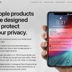 Image for the Tweet beginning: #Apple's refreshed Privacy website now