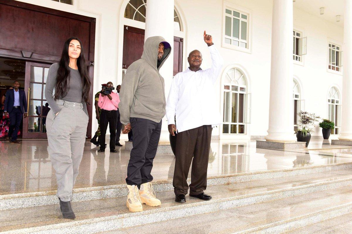 b1c4a393eb kanye west amp kimkardashian give yeezys to orphans during uganda trip