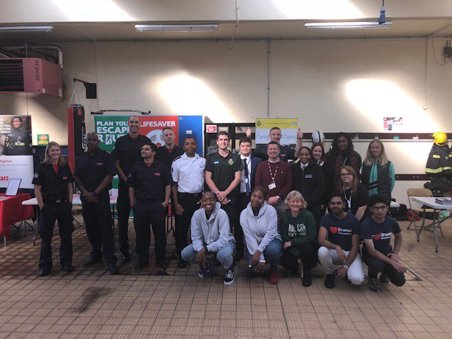 More than 50 young people attended a careers day at #Hillingdon fire station. As well as learning about jobs within the fire service, they also had the opportunity to speak to representatives from a number of partner agencies about careers within their various organisations.