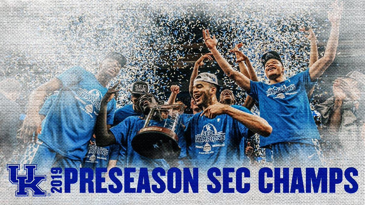 NEWS   Media tabs @KentuckyMBB as 2019 #SECMBB Champions   Full List  https:// bit.ly/2yIHFPy  &nbsp;  <br>http://pic.twitter.com/YK94sUoS7P