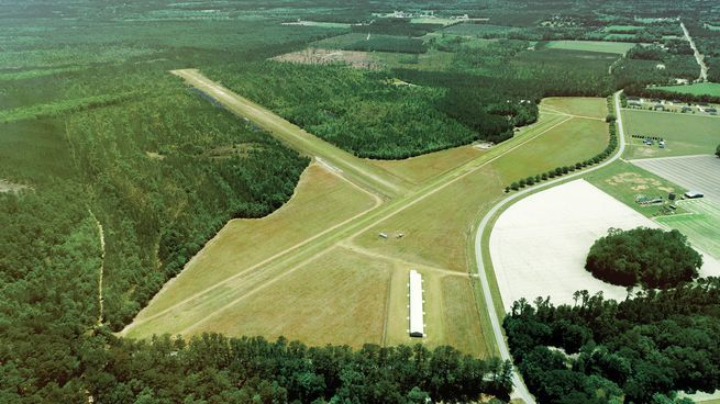 Plane veers off runway