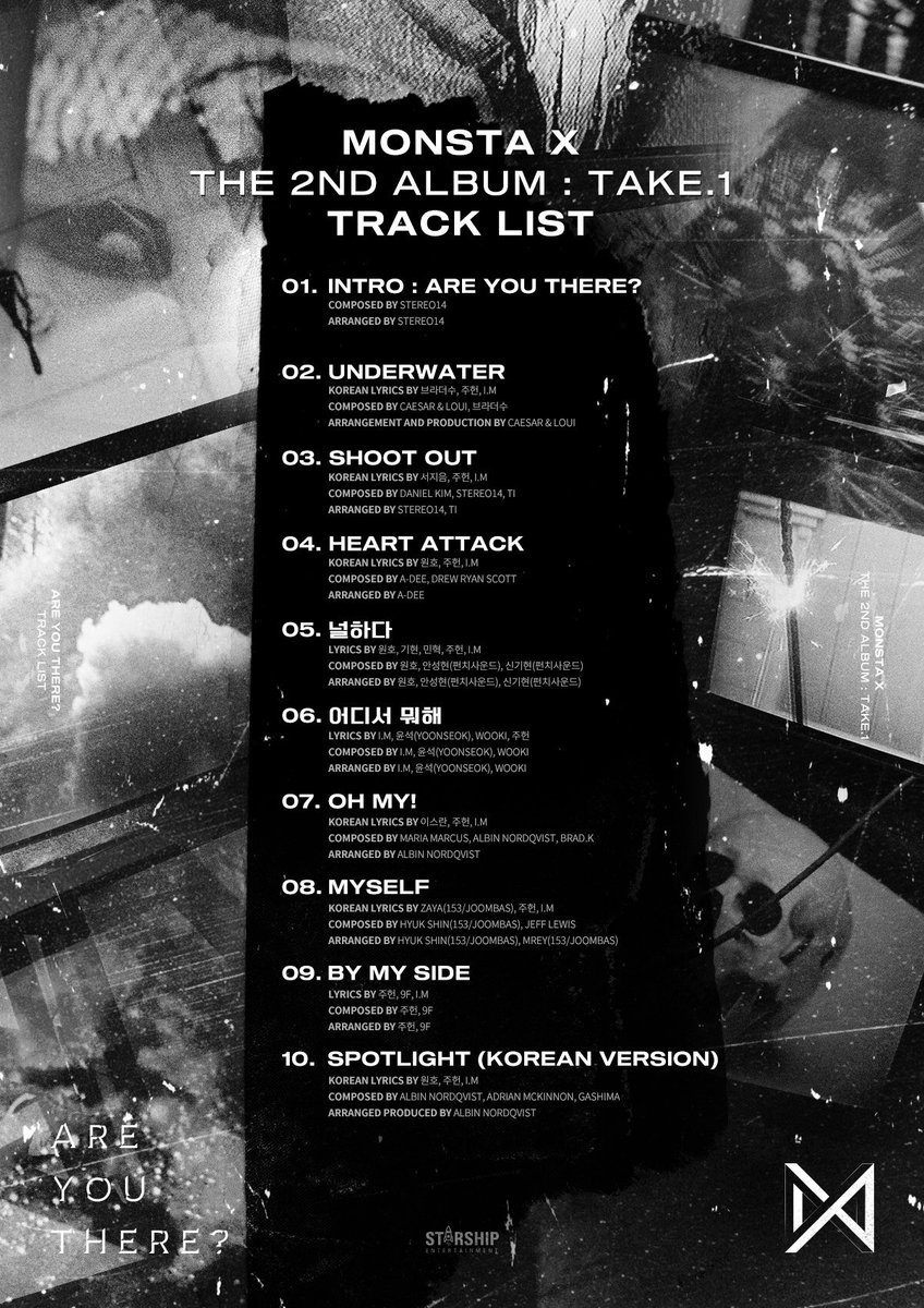 teaser k monsta x tracklist music onehallyu. Black Bedroom Furniture Sets. Home Design Ideas