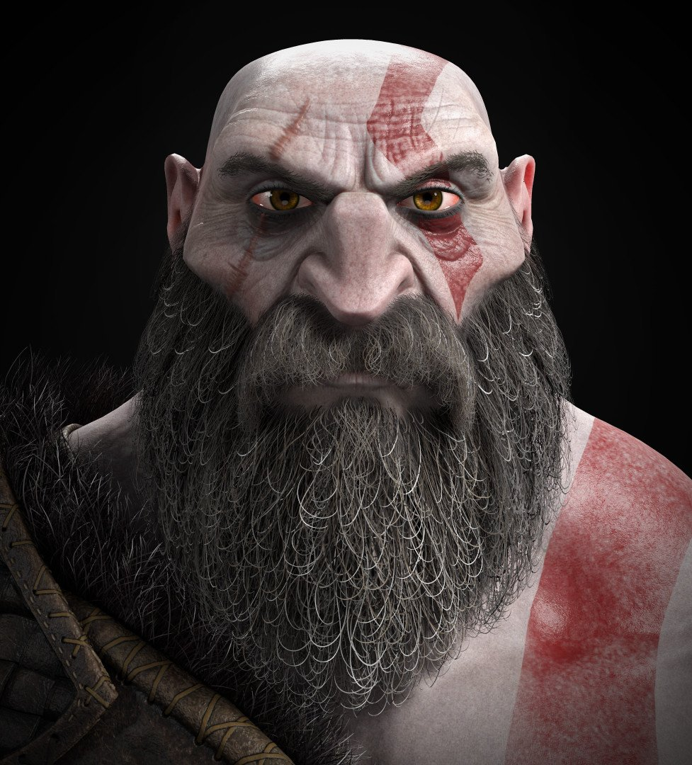 The #FanArt of #GodofWar 🔥🎨 'Kratos' Artist: @Haub_Art