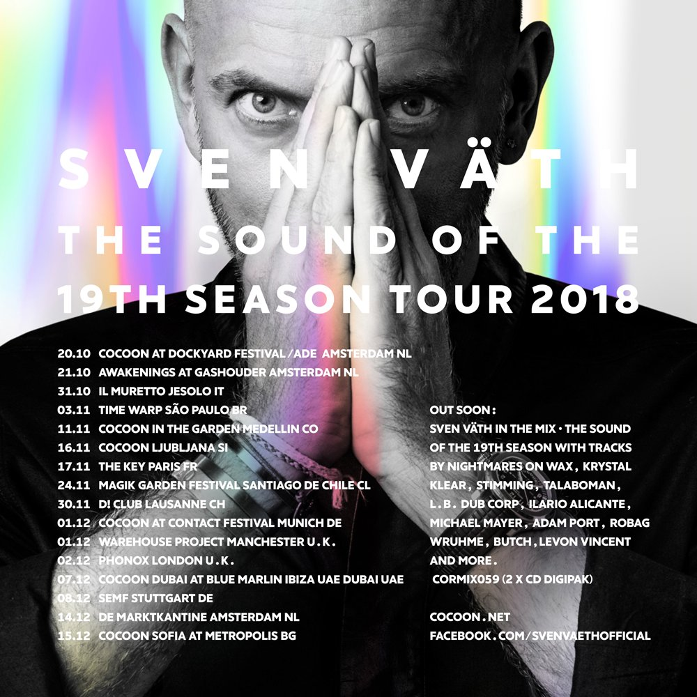 We ended the summer surfing the high waves. I had a high class problem trying to put together our Sound of the 19th Season. I hope u enjoy, it was a big year for all of us.I also want to welcome you to my Winter Tour & hope that somewhere along the way u can join me again💜Sven