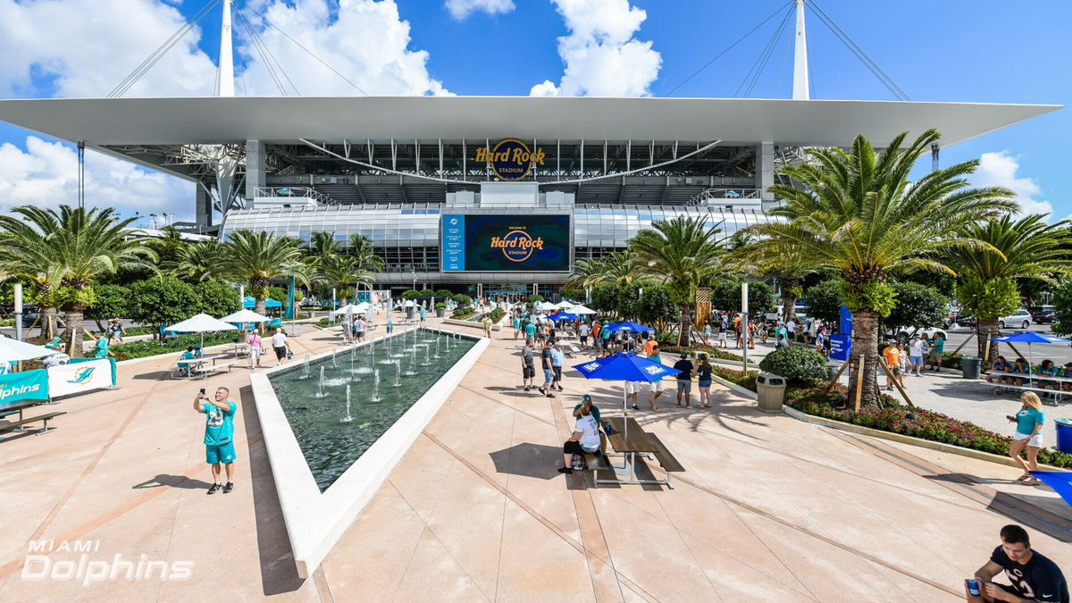 Hard Rock Stadium On Twitter The Fountain Plaza At Hardrockstadium Looked Picture Perfect During Sunday S Game