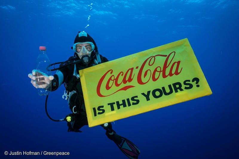 Coca Cola, Greenpeace, пластик