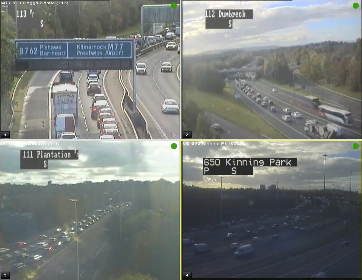 test Twitter Media - 🐌CONGESTION🐌15:05⌚️  Traffic is queueing on the #M77 southbound from J2 back on to the #M8 merge westbound at J22 Kinning Park.  #ExpectDelays https://t.co/G5Ec7l2c29