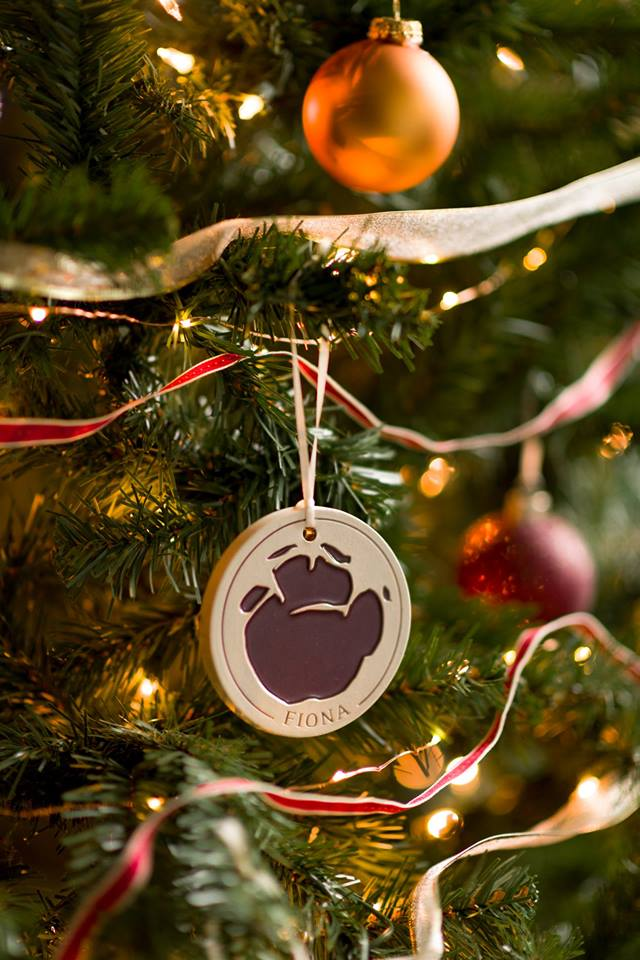 Were excited to announce our limited-edition, custom-made Rookwood Pottery ornament featuring Fionas footprint. The mold of her tiny footprint was taken on 2/13/17 when she was 3 weeks old. Only 1k ornaments made per color- get yours before theyre gone! ow.ly/WRws30mh1kk
