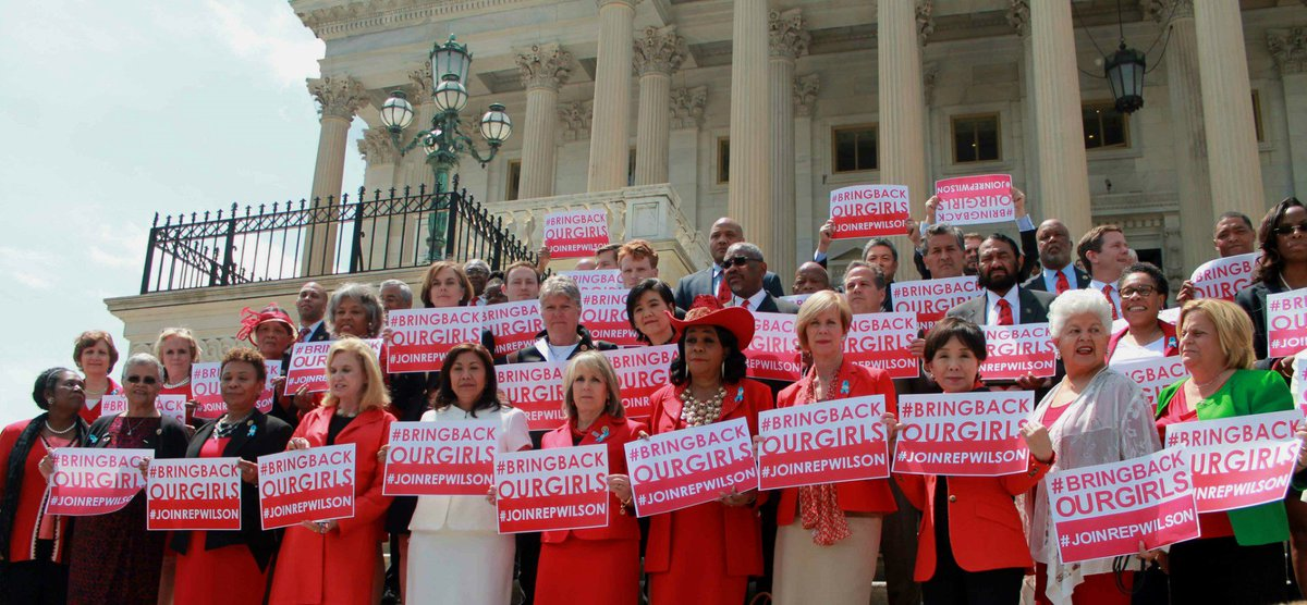 Nearly five years later, I'm grateful for my colleagues continued support for the fight to #BringBackOurGirls!