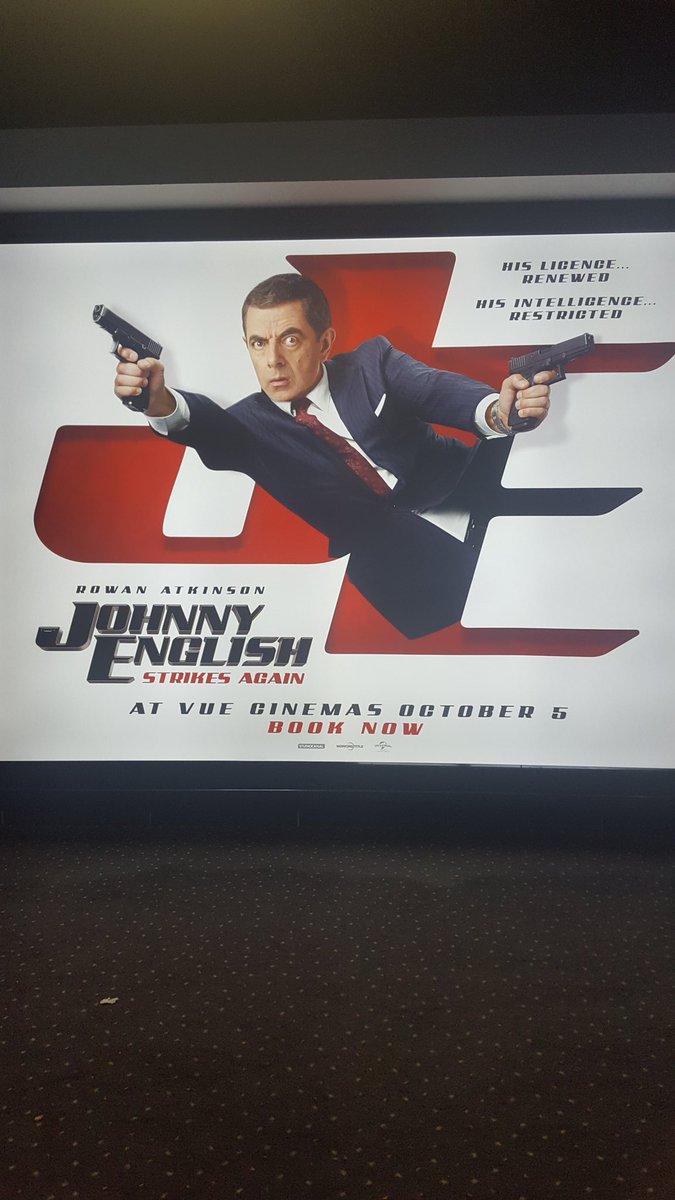 Tonight&#39;s Movie is #JohnnyEnglish Strikes Again at @vuecinemas  #MeerkatMovies @comparethemkt @universaluk @johnnyenglish #RowanAtkinson @OlyaKurylenko<br>http://pic.twitter.com/ciMMh1E8yR