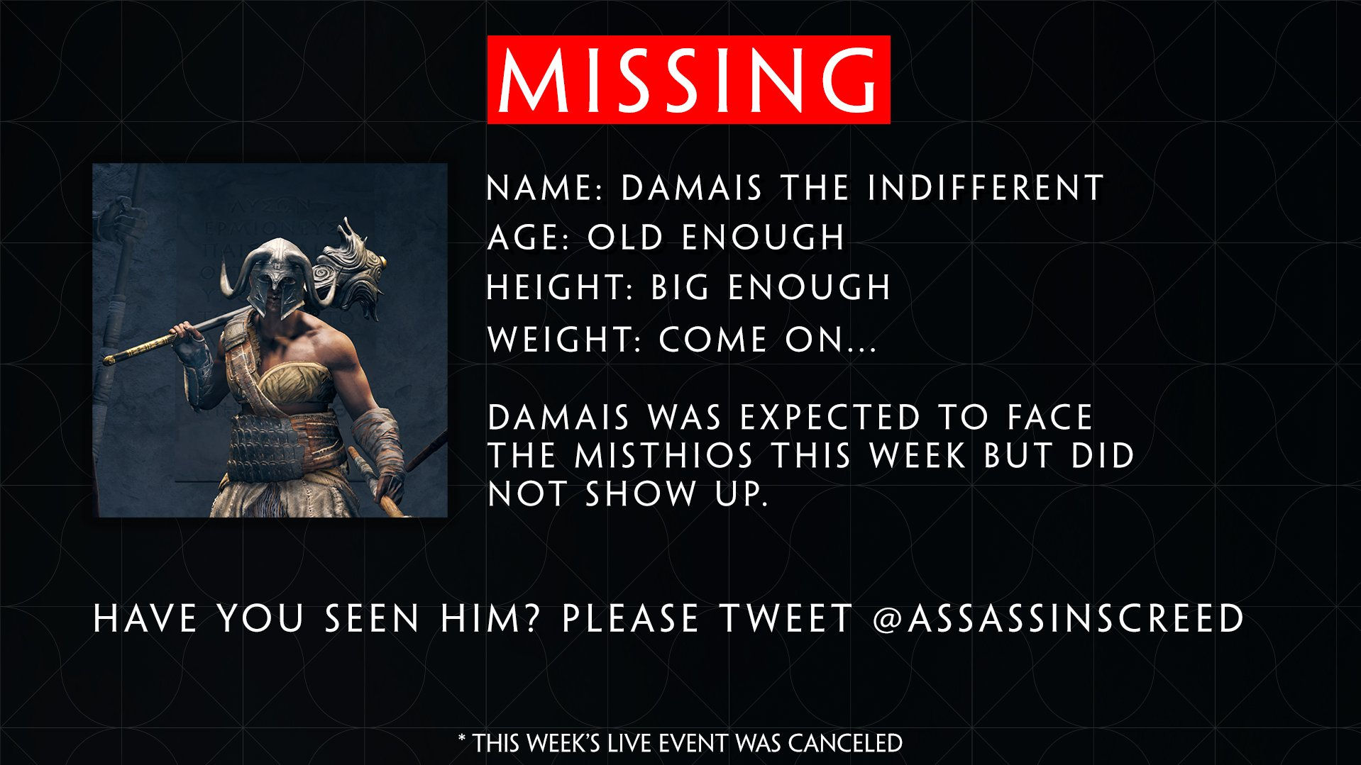 Assassin S Creed On Twitter Psa This Week S Live Event Was