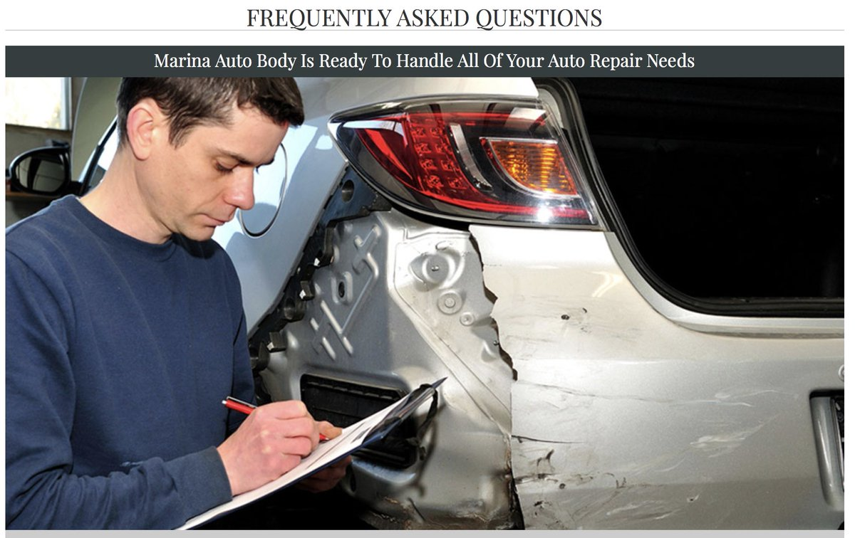 auto body repair questions and answers
