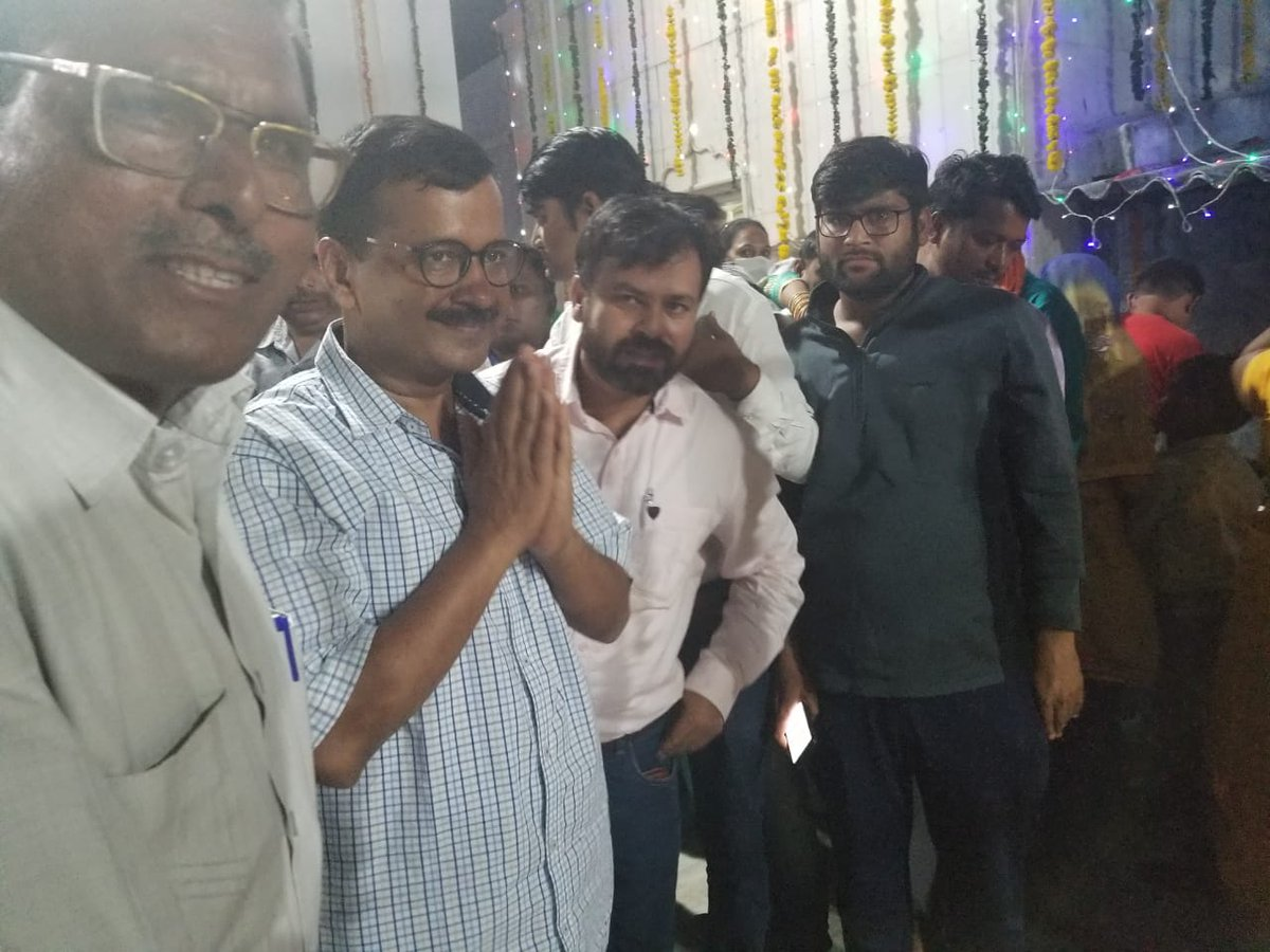CM @ArvindKejriwal  attends 387th Birthday of Sant Khak Shah Brahmachari in Model Town, Delhi.