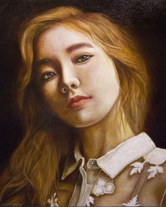 I&#39;ve been holding on to this oil painting I did since 2015. Then a friend told me Taeyeon might come this December :O Maybe this painting should be given to her. Don&#39;t you think? inaaaang @happeehour &lt;3 Pero gusto ko pa gumawa ng mas bago kasi super tagal na nito. <br>http://pic.twitter.com/fcMUnE9siE