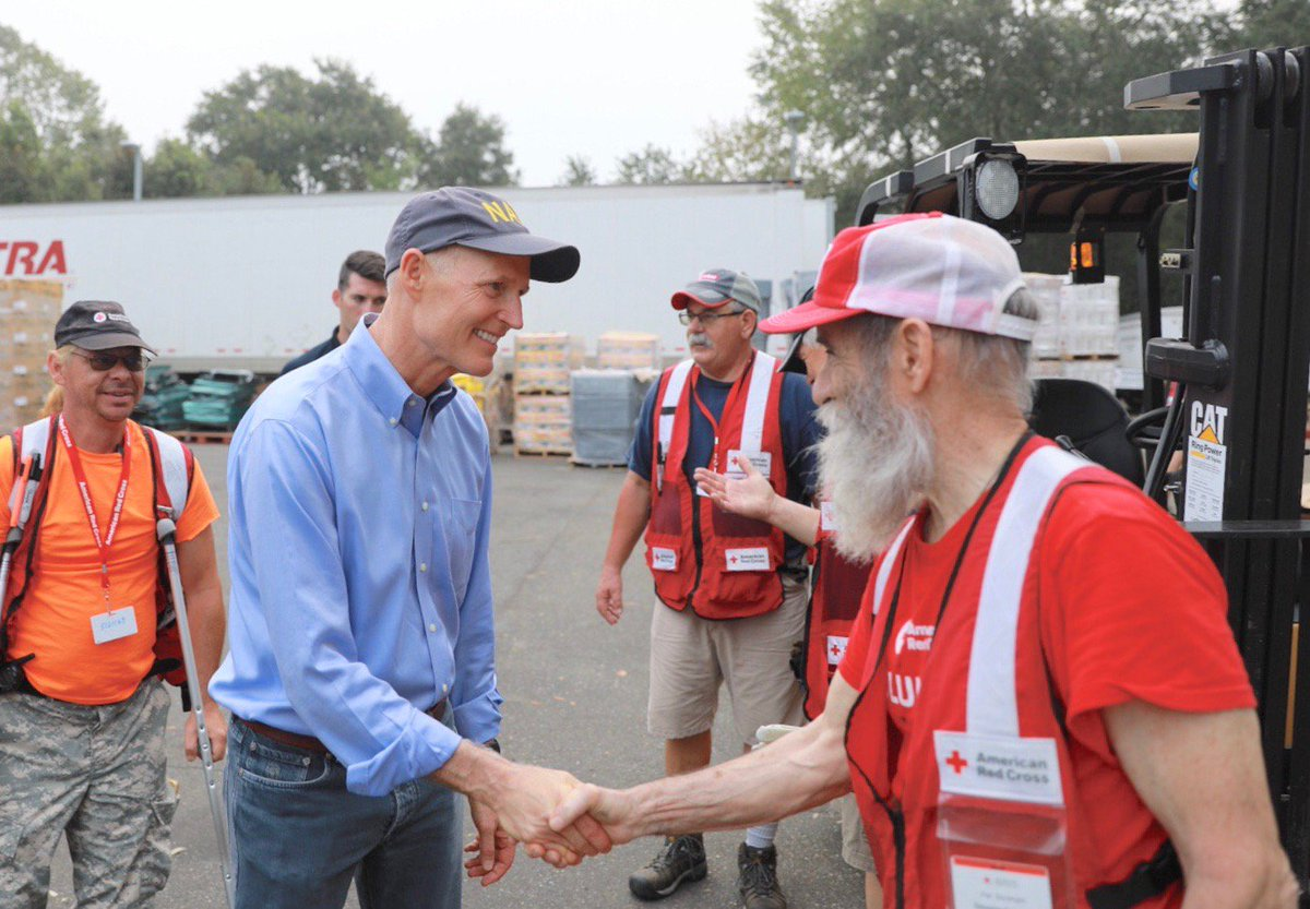 Visited the @RedCross in Tallahassee this morning before heading back out into communities to help solve problems. This organization has hundreds of disaster volunteers in the affected counties helping our FL families. We cannot thank them enough for their hard work. <br>http://pic.twitter.com/bpPmXQKruF