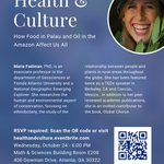 ". @NatGeoExplorers @MariaFadiman will be coming to #Emory 10/24 for distinguished lecture on #health & #culture w/ @emorycshh ! ""How food in Palau & oil in the Amazon affects us all"". Free & open to the public, RSVP here before seats run out: https://t.co/06dpExXCHW #ethnobotany"