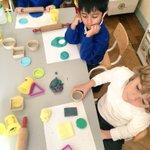 Image for the Tweet beginning: Junior Infants explore 2-D shapes