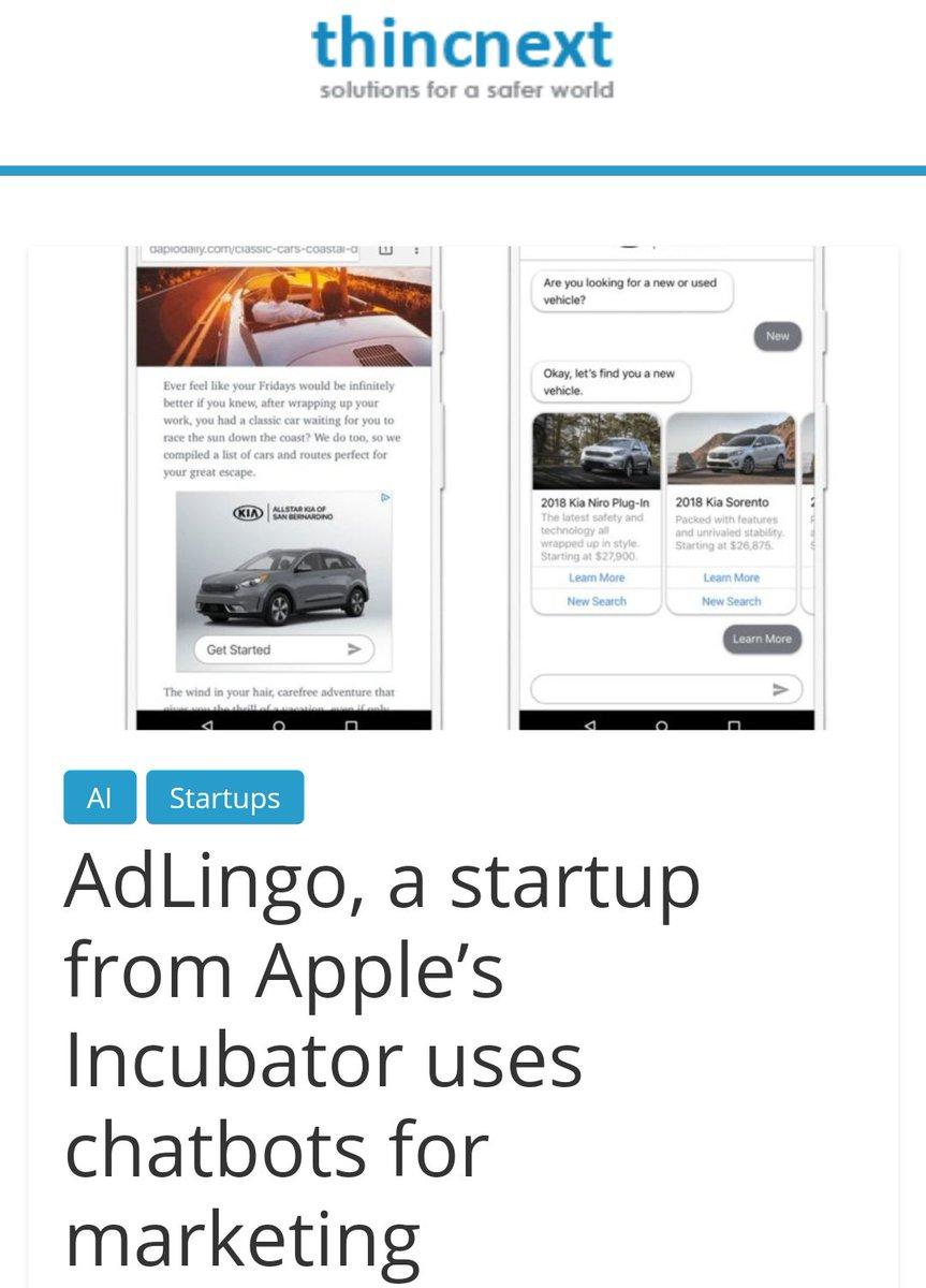 "Adlingo thincnext on twitter: ""adlingo, a startup from apple's"