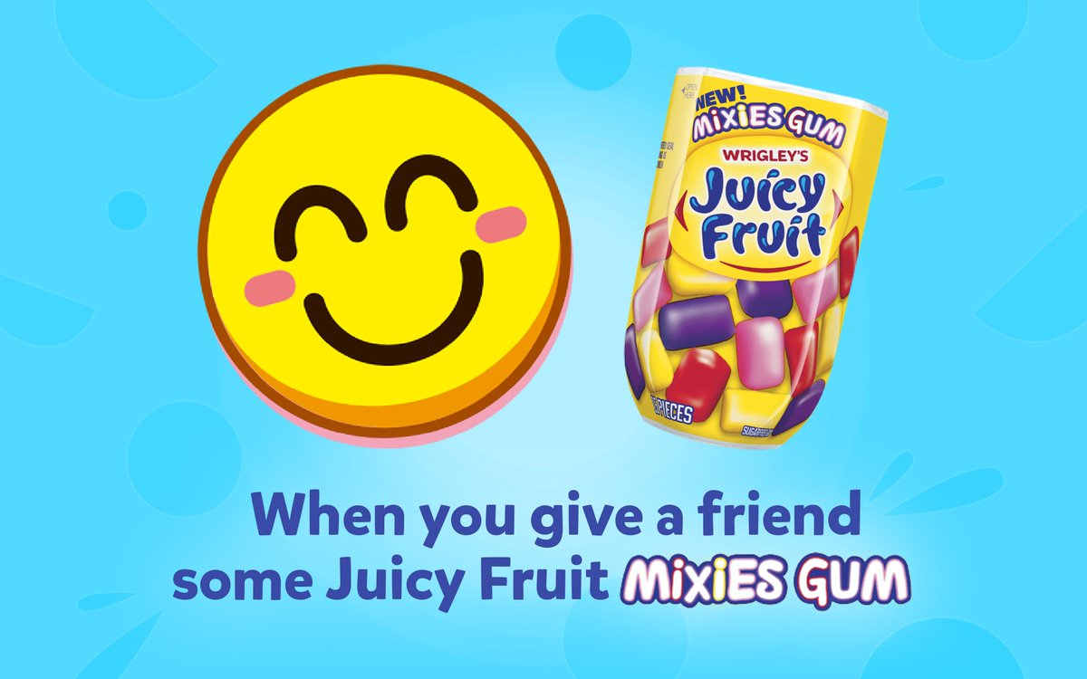 Juicy Fruit Mixies = all the feels! https://t.co/7xUam0VDd7