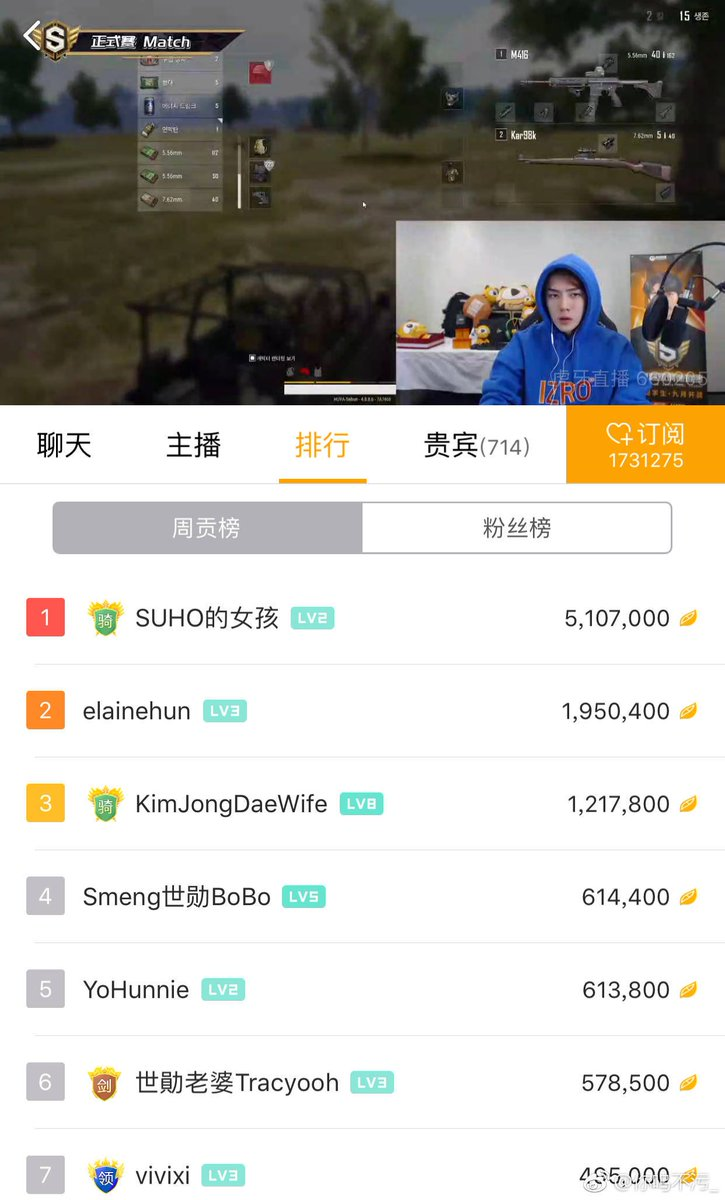 1. Suho&#39;s Girl  2. Kim Jongdae&#39;s Wife 3. Sehun&#39;s Wife  4. Zhang Yixing&#39;s Wife   Just from PUBG Broadcasts, many interesting users has appeared ㅋㅋㅋ   5 more members IDs left, wonder if we&#39;re gonna encounter even more interesting users..   #EXO @weareoneEXO<br>http://pic.twitter.com/OcAdl7w9G3