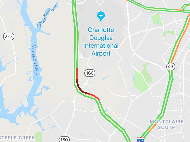 A crash on the inner loop of I-485 has the right lane blocked btwn Steele Creek Rd exit 4 and West Blvd exit 6.   #clttraffic <br>http://pic.twitter.com/q39VtzN0Dn
