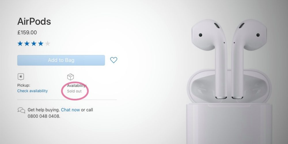 AirPods strangely go out of stock across European Apple Store websites  https:// 9to5mac.com/2018/10/17/air pods-apple-store-europe/ &nbsp; …  by @bzamayo<br>http://pic.twitter.com/KJnMtKFcIn