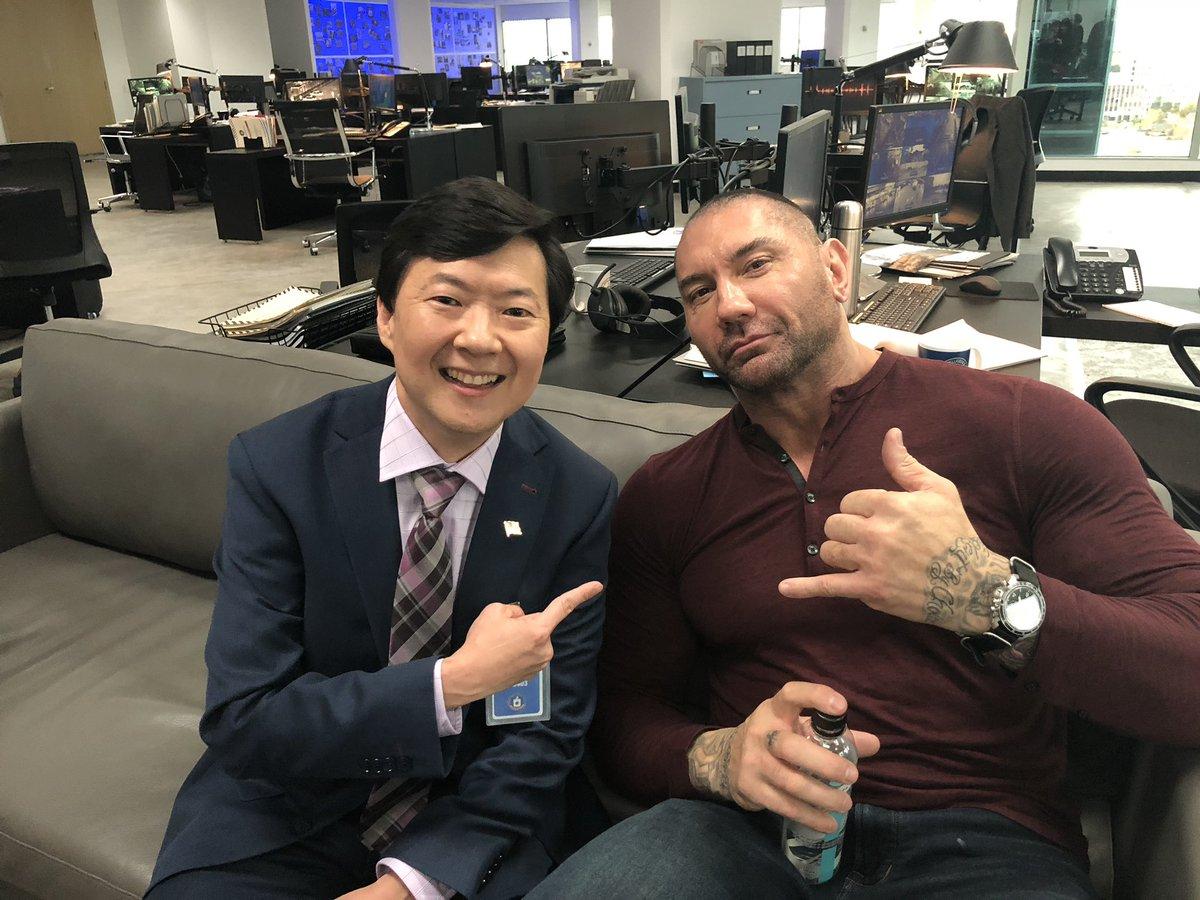 Chow and Drax.   #MySpy    https:// variety.com/2018/film/news /ken-jeong-dave-bautista-my-spy-1202982372/ &nbsp; … <br>http://pic.twitter.com/ADHwx1ouGs
