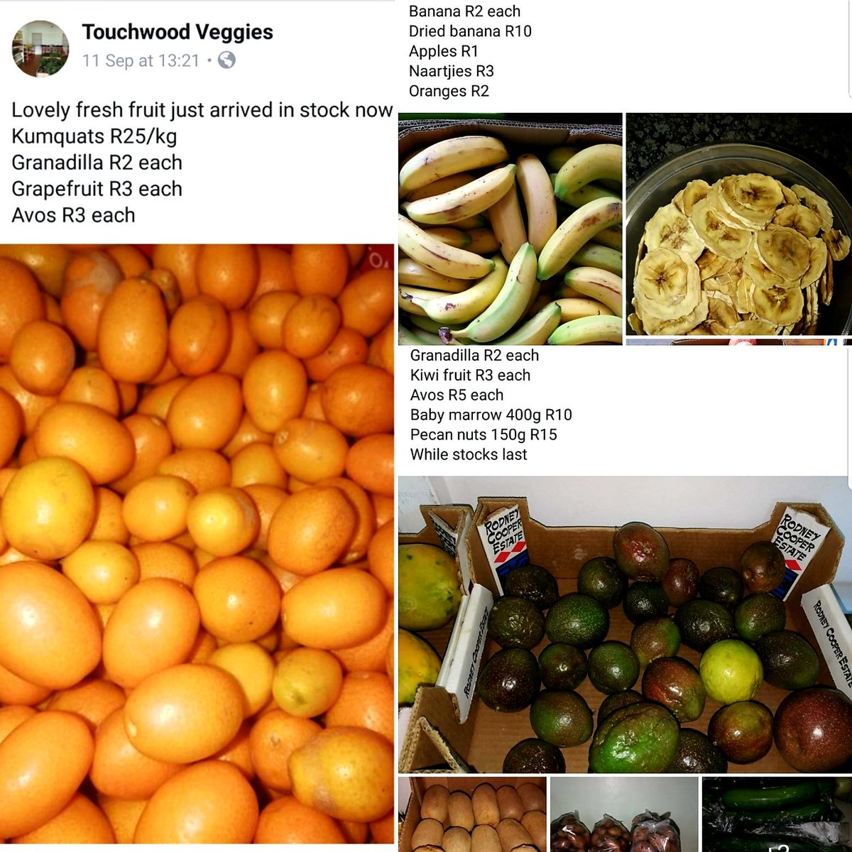 Touchwood Veggies in Howick/Merrivale in the #KwaZulunatal Midlands - nice &amp; excellent price    https://www. facebook.com/touchwoodveggi es/ &nbsp; …   A3 #TravelChatSA  <br>http://pic.twitter.com/wAApssSICH