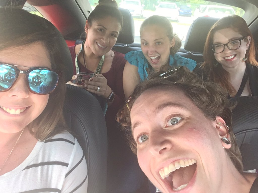 How many English teachers can you fit in a Volkswagen? Answer: 5 <br>http://pic.twitter.com/6DPv9LRao9