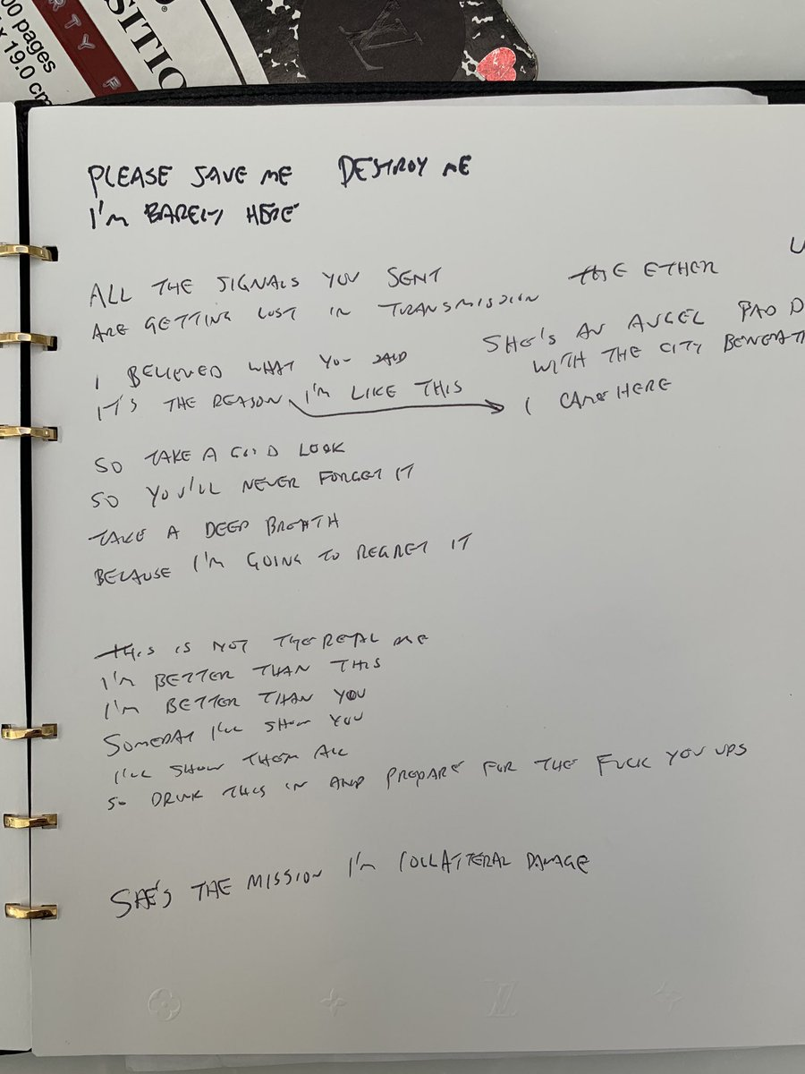 Mark The Herald Angels Sing On Twitter Looking In An Old Box I Found My Notebook From The Blink182 Untitled Album This time, he decided to poke fun at yungblud about his spelling. mark the herald angels sing on twitter