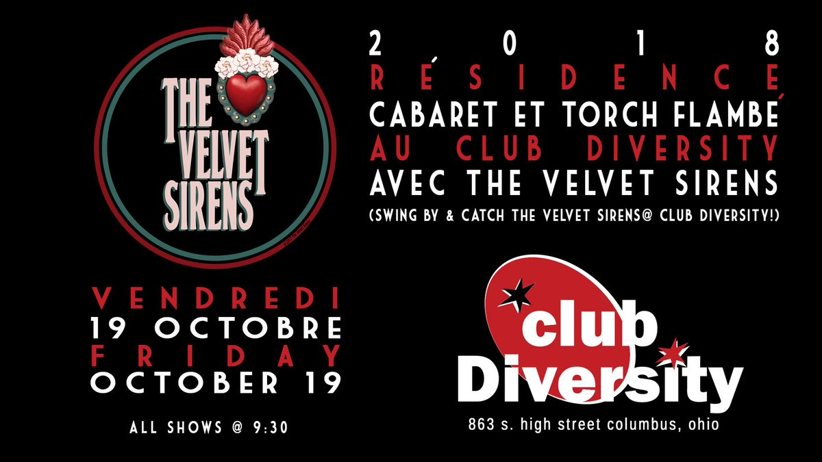 Join #thevelvetsirens (10/19) as they continue their 2018 residency at the Club Diversity. We'll be playing favorites & originals from The Velvet Sirens Songbook. Swing by & spend time at this Columbus establishment! #jazz #ukulele #jazzukulele #baritoneukulele #jazzstandards<br>http://pic.twitter.com/pi9JwQJYsb
