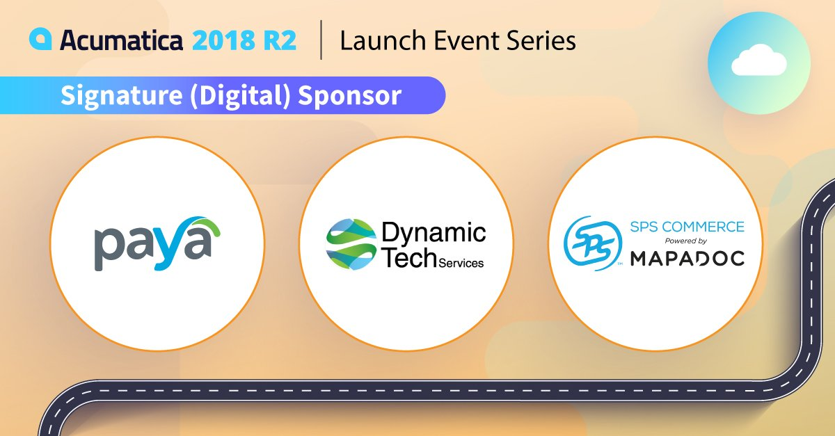 Happy to help sponsor the #Acumatica2018R2 Launch Event Series. Looking forward to Orlando tomorrow.