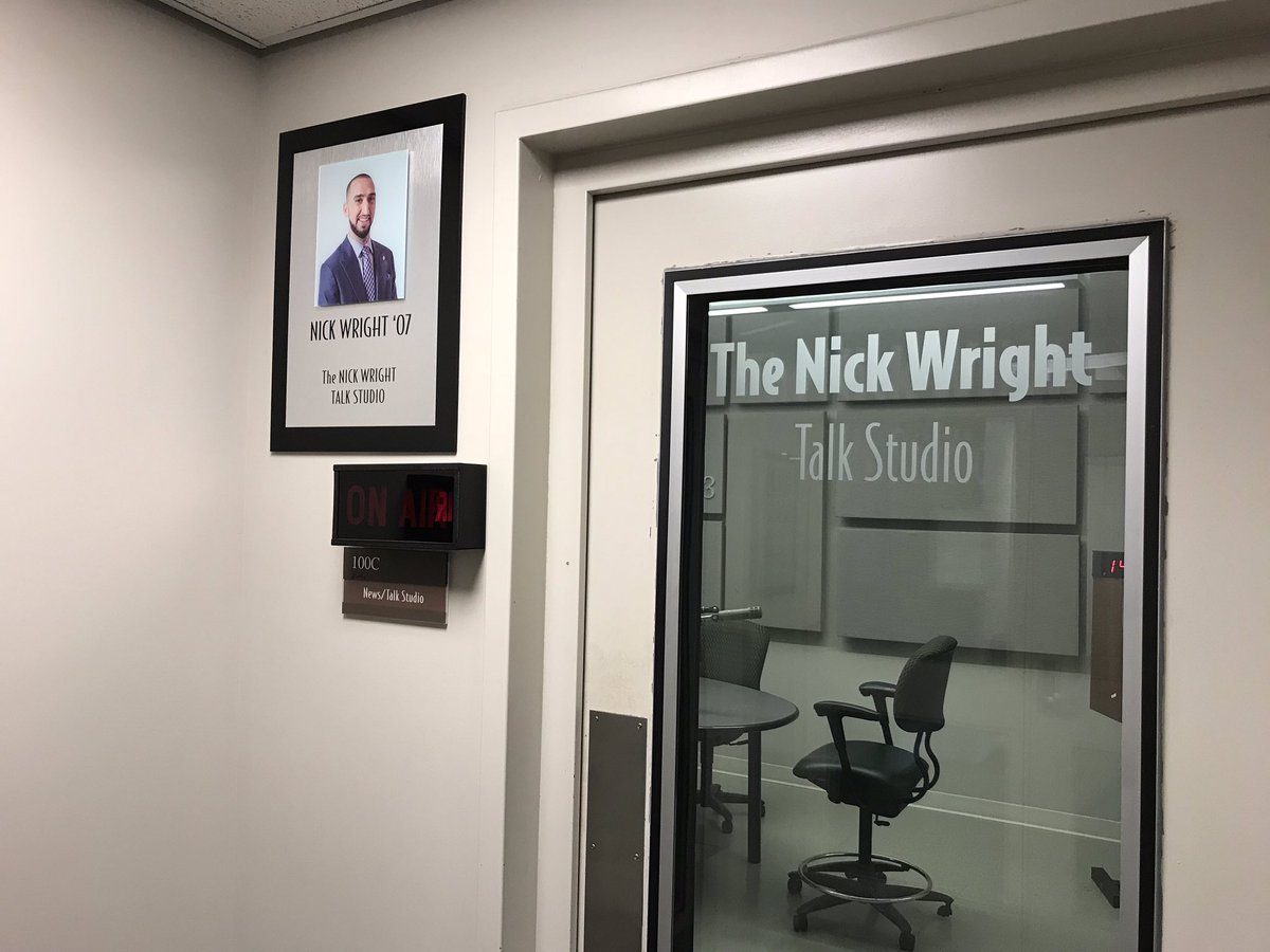 The studio in which I fell in love with radio, at the greatest student run station in the country, @WAERSports @waer883, is now named after me.   This is the greatest honor my career &amp; nothing could ever top it. I&#39;m so incredibly grateful.<br>http://pic.twitter.com/x8tmdrxGLT