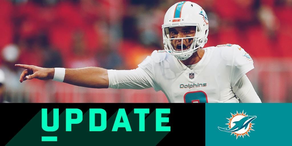 Brock Osweiler will start for the @MiamiDolphins in Week 7: https://t.co/yGMrbZateg #DETvsMIA https://t.co/kJw1Fc4uFL