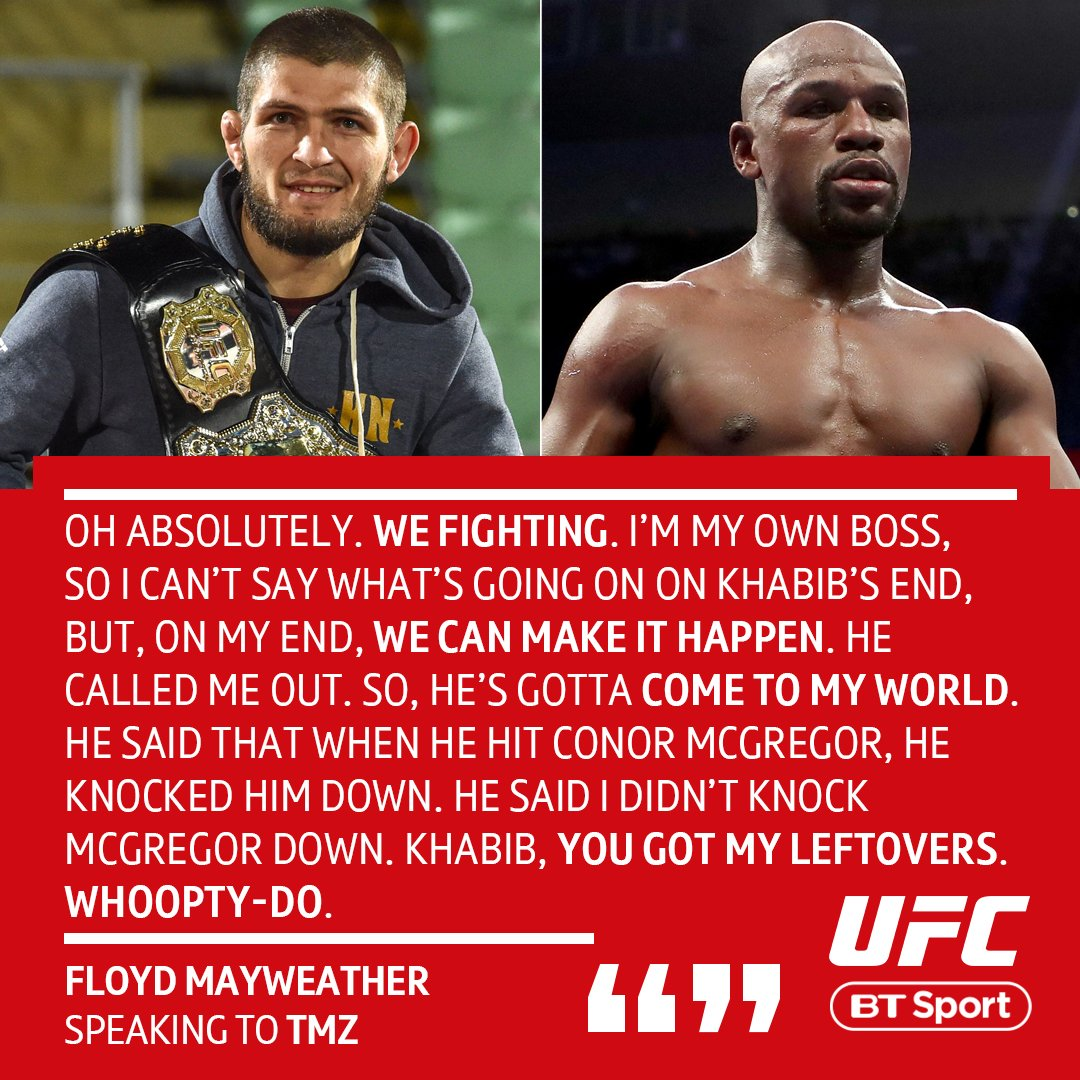 Looks like Floyd is very serious about a fight with Khabib...  If the UFC lightweight champ 'comes to his world' 👀