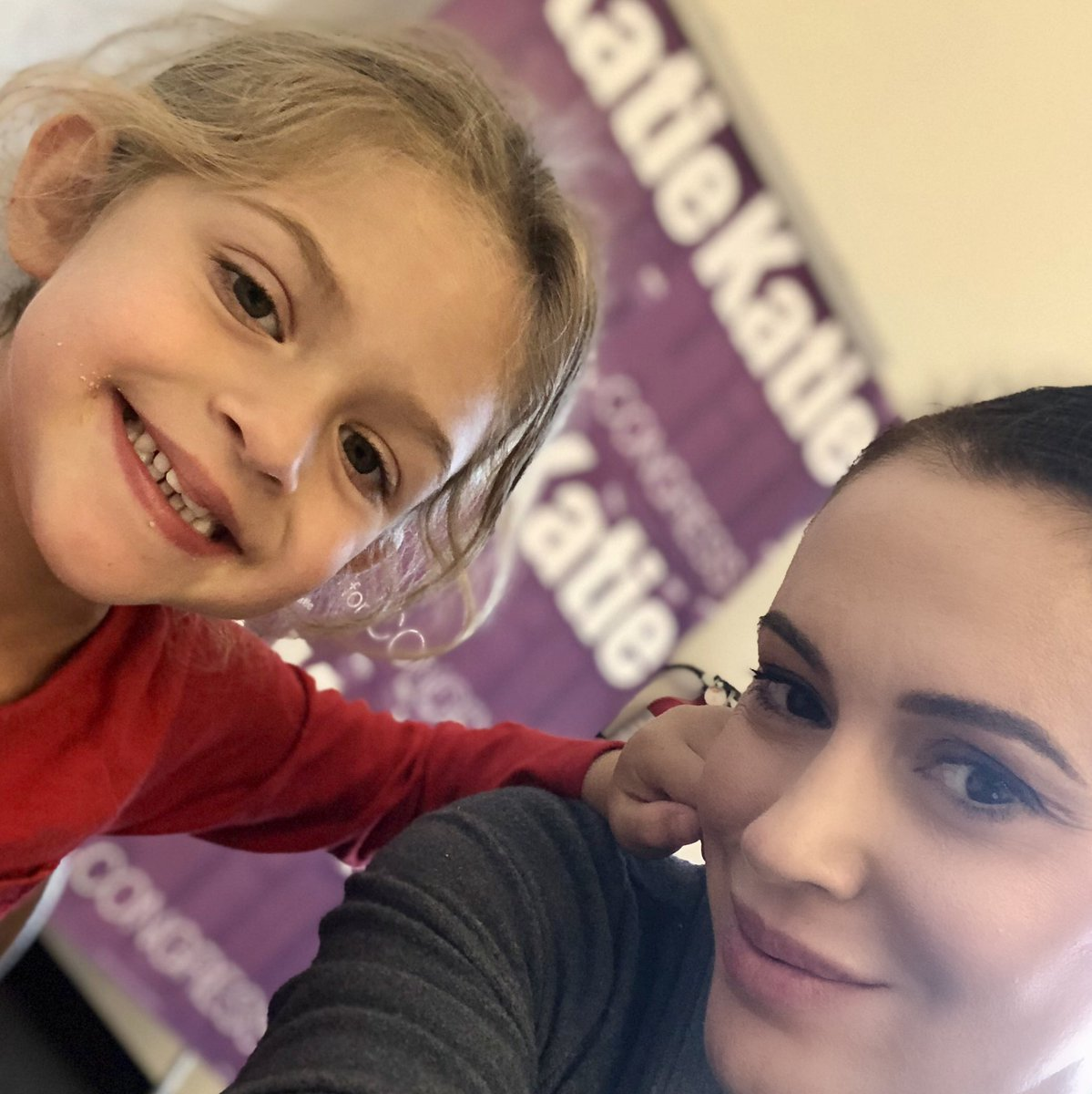 Bella and I are phone banking for @KatieHill4CA because we pledged to @AdyBarken we would #BeAHero.