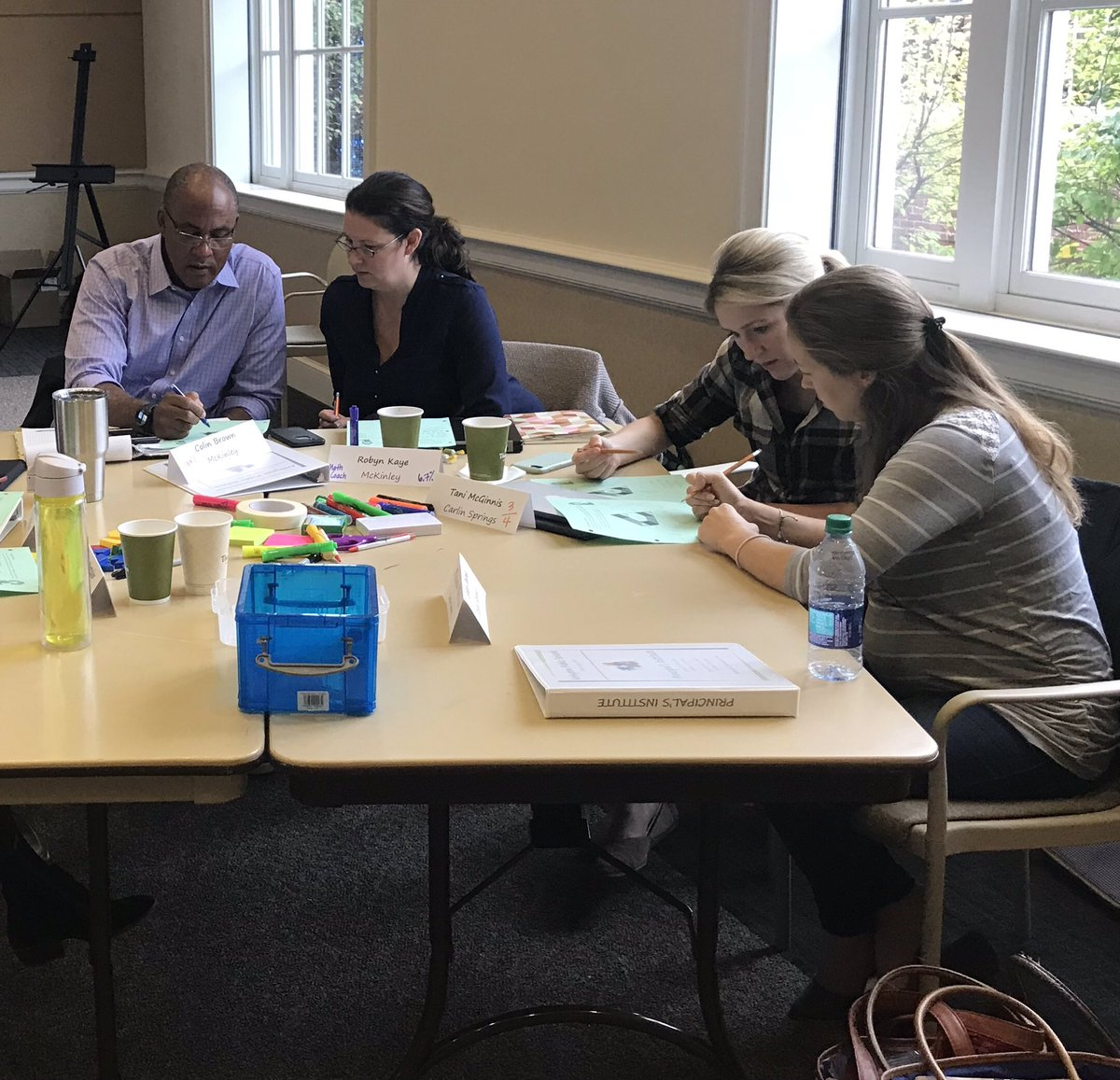 Another great pic of administrators &amp; math coaches collaborating to solve a math problem from the Principals Institute today! <a target='_blank' href='http://twitter.com/APSMcKCardinals'>@APSMcKCardinals</a> <a target='_blank' href='http://twitter.com/apscspr'>@apscspr</a> <a target='_blank' href='https://t.co/2YQXvBwbIZ'>https://t.co/2YQXvBwbIZ</a>