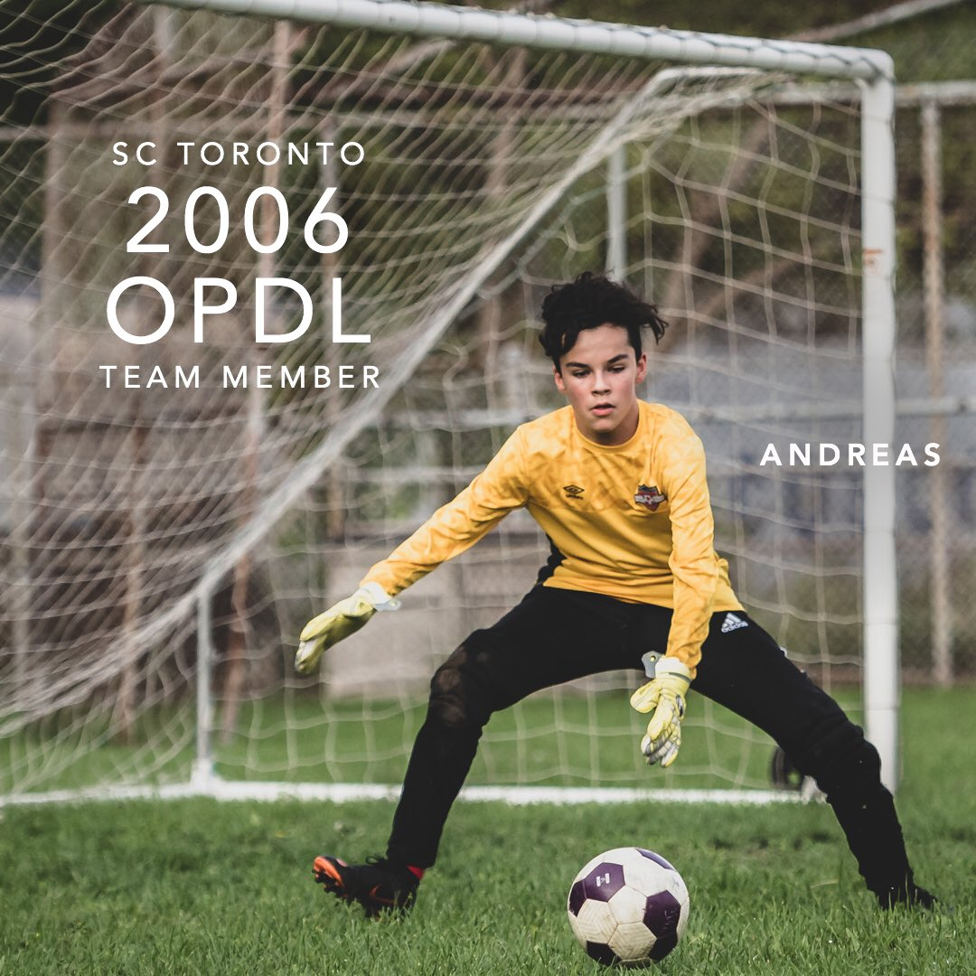 Congratulations Andreas for earning a spot on the 2006 SC Toronto OPDL Team #SupportLocalFootball #Toronto #2006Boys  #SCToronto #TorontoSoccer #SoccerInTheSix #OPDL #OntarioSoccer #PlayInspireUnite #Football #Soccer #Canada2026 #TheBeautifulGame  Tryouts ongoing. DM for details.