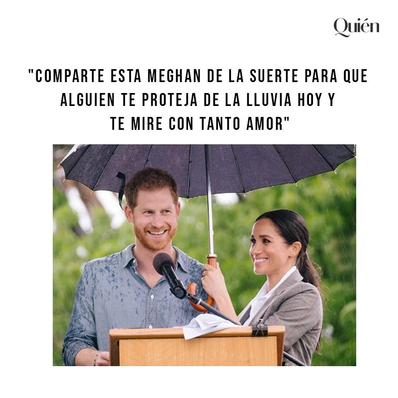 ¡Nos encanta esta pareja! ❤️ RT si quieres a alguien así en tu vida #MeghanMarkle #PrinceHarry
