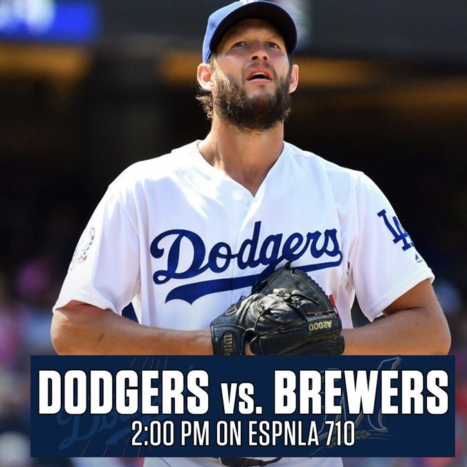 It's #KershawDay!  Listen to #NLCS Game 5 now on ESPNLA 710 and https://t.co/Wda75IMccI #LADetermined https://t.co/HaXuF8Mk4B