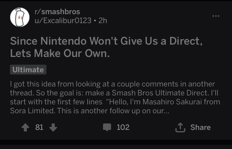 Smash reddit is really going fucking crazy <br>http://pic.twitter.com/zkmtpznI5g