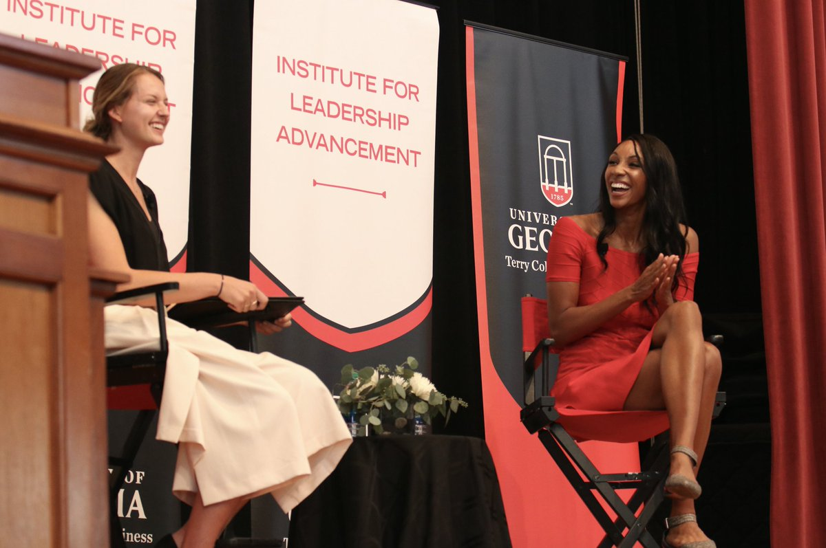 As the first African-American woman to co-host ESPN College Game Day, Maria Taylor (ABJ '09, MBA '13) is familiar with forging her own path. The secret to breaking glass ceilings, she said at a Terry Leadership Speaker Series event, is to embrace what makes you different.