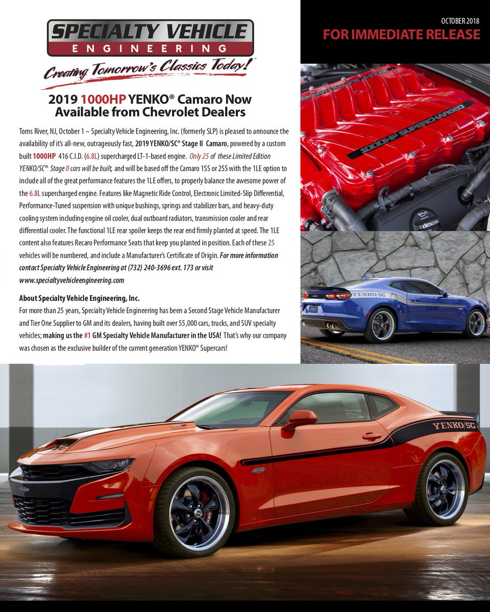 Chevrolet Dealers In Sc >> Sve Cars On Twitter Hot Off This Morning S Press Release New 2019