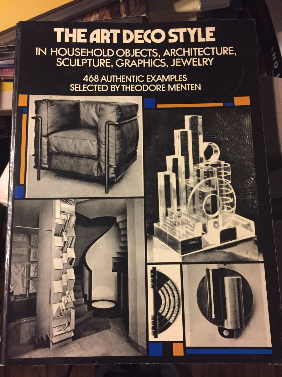 Many early books on Art Deco such as this from 1972 had virtually no text. The just-published book from @chicagodeco is full of context and research from leading Chicago scholars! The perfect holiday gift 🎁