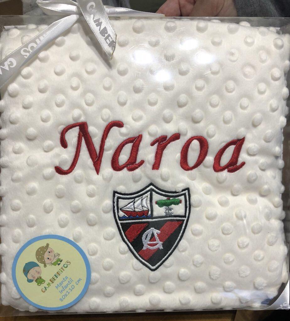 Regalo muy 🔝xa la futura arenera que viene de camino !!!!  @arenas_club1909 #mantita #naroa