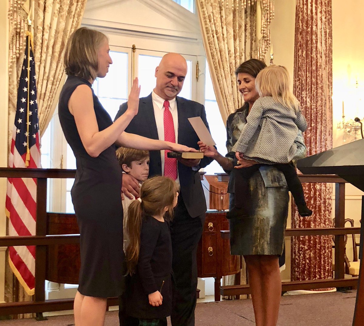 RT @USUN: We were honored to swear in Cherith Norman Chalet as our new U.S. Ambassador for UN Management &amp; Reform. She's both a tough negotiator &amp; proven reformer. We couldn't ask for a better representative to fight waste &amp; abuse while advocating for America's best interest @UN.<br>http://pic.twitter.com/JcwQ3HPotT
